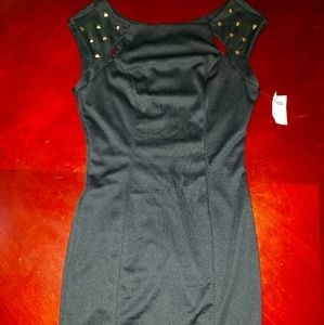 Cute and sassy studded shoulder cutout dress
